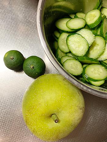 梨サラダ材料